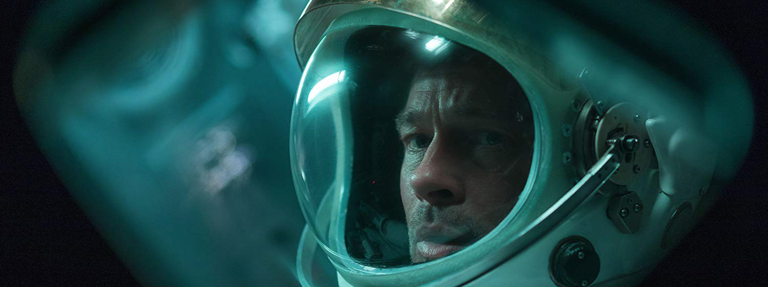 Brad Pitt in a space helmet
