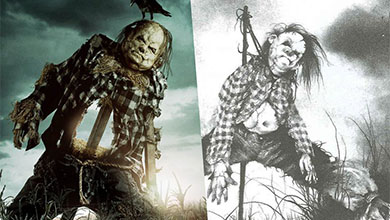 Comparison of scarecrow character from